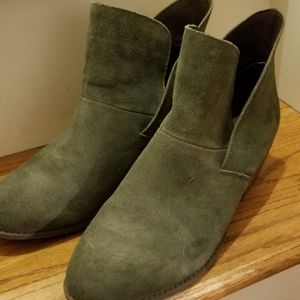 Me too green suede booties!